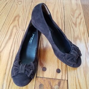 Paul Green Munchen Suede Wedge Slip on Shoes